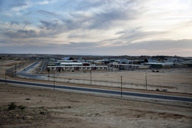 Holot detention center.